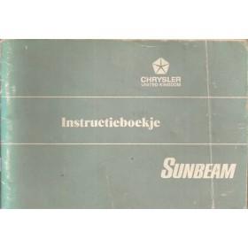 Sunbeam Avenger Instructieboekje   Benzine Fabrikant 74 met gebruikssporen   Nederlands