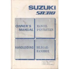 Suzuki Swift Instructieboekje  SA310 Benzine Fabrikant 83 met gebruikssporen   Nederlands/Frans/Engels