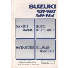 Suzuki Swift Instructieboekje  SA310-SA413 Benzine Fabrikant 87 met gebruikssporen   Nederlands/Frans/Engels