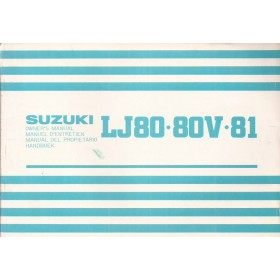 Suzuki LJ80 Instructieboekje   Benzine Fabrikant 79 ongebruikt   Nederlands/Frans/Engels/Spaans