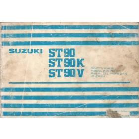 Suzuki Carry Instructieboekje  ST90 Benzine Fabrikant 79 met gebruikssporen lichte vochtschade  Nederlands