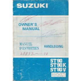 Suzuki Carry Instructieboekje  ST90 Benzine Fabrikant 84 met gebruikssporen krassen op kaft  Nederlands