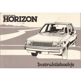 Talbot Horizon Instructieboekje   Benzine Fabrikant 78 met gebruikssporen   Nederlands