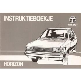 Talbot Horizon Instructieboekje   Benzine Fabrikant 82 ongebruikt   Nederlands