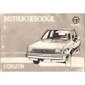 Talbot Horizon Instructieboekje   Benzine Fabrikant 84 met gebruikssporen   Nederlands