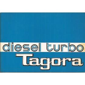 Talbot Tagora Instructieboekje   Diesel Fabrikant 81 ongebruikt dieselsupplement  Frans