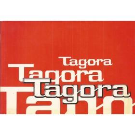 Talbot Tagora Instructieboekje   Benzine Fabrikant 81 ongebruikt   Duits