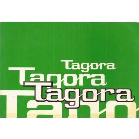 Talbot Tagora Instructieboekje   Benzine Fabrikant 82 ongebruikt   Engels