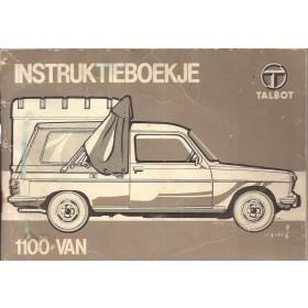 Talbot 1100 Van Instructieboekje   Benzine Fabrikant 81 met gebruikssporen   Nederlands