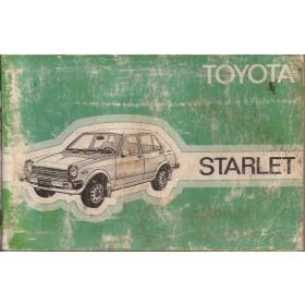 Toyota Starlet Instructieboekje  Mk1 Benzine Fabrikant 78 met gebruikssporen vochtschade, beschadigde kaft  Nederlands