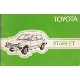 Toyota Starlet Instructieboekje  Mk1 Benzine Fabrikant 79 ongebruikt   Nederlands