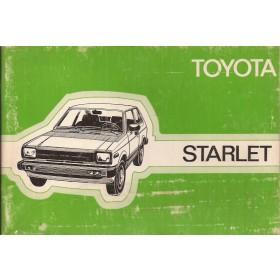 Toyota Starlet Instructieboekje  Mk2 Benzine Fabrikant 80 met gebruikssporen   Nederlands