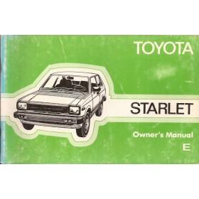Toyota Starlet Instructieboekje  Mk2 Benzine Fabrikant 82 met gebruikssporen   Engels