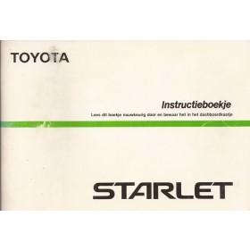 Toyota Starlet Instructieboekje  Mk3 Benzine Fabrikant 87 met gebruikssporen   Nederlands