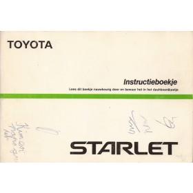 Toyota Starlet Instructieboekje  Mk3 Benzine Fabrikant 87 met gebruikssporen notities op kaft  Nederlands