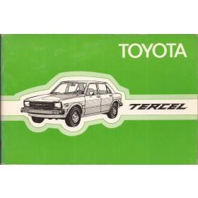 Toyota Tercel Instructieboekje  Mk1 Benzine Fabrikant 79 ongebruikt   Nederlands