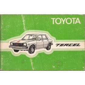 Toyota Tercel Instructieboekje  Mk1 Benzine Fabrikant 79 met gebruikssporen   Nederlands