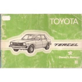 Toyota Tercel Instructieboekje  Mk1 Benzine Fabrikant 79 met gebruikssporen   Engels