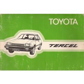Toyota Tercel Instructieboekje  Mk2 Benzine Fabrikant 82 met gebruikssporen   Nederlands
