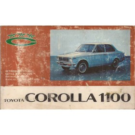Toyota Corolla Instructieboekje  Mk1 1100 Benzine Fabrikant 68 met gebruikssporen   Nederlands/Duits/Frans/Spaans