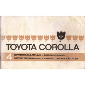 Toyota Corolla Instructieboekje   Benzine Fabrikant 74 met gebruikssporen   Nederlands/Duits/Frans/Spaans