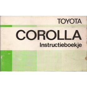 Toyota Corolla Instructieboekje  model KE30/KE35/KE36 Benzine Fabrikant 75 met gebruikssporen   Nederlands