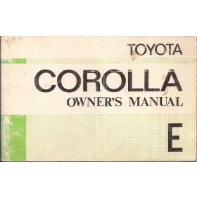 Toyota Corolla Instructieboekje  model KE30/KE35/KE36 Benzine Fabrikant 75 met gebruikssporen   Engels