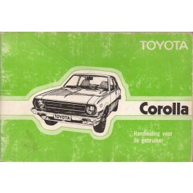 Toyota Corolla Instructieboekje  model KE30/KE35/KE36 Benzine Fabrikant 77 met gebruikssporen   Nederlands