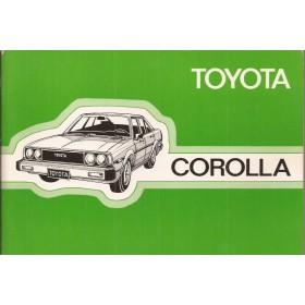 Toyota Corolla Instructieboekje  model KE70 Benzine Fabrikant 80 ongebruikt   Nederlands