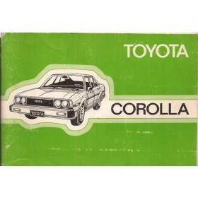 Toyota Corolla Instructieboekje  model KE70 Benzine Fabrikant 80 met gebruikssporen   Nederlands
