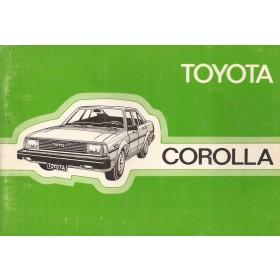 Toyota Corolla Instructieboekje  model KE70 Benzine Fabrikant 82 met gebruikssporen   Nederlands
