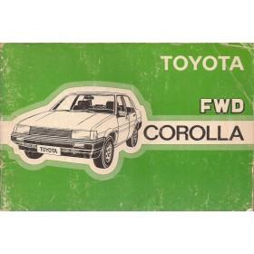 Toyota Corolla Instructieboekje  model KE80 Benzine Fabrikant 83 met gebruikssporen   Nederlands