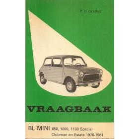 B.M.C. Austin Mini Vraagbaak P. Olyslager Benzine Kluwer 76-81 met gebruikssporen Nederlands