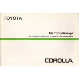 Toyota Corolla Instructieboekje   Benzine Fabrikant 87 met gebruikssporen   Nederlands