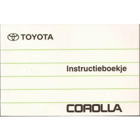 Toyota Corolla Instructieboekje   Benzine Fabrikant 92 met gebruikssporen   Nederlands