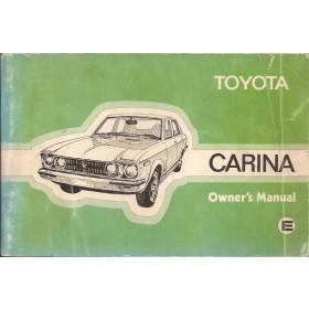 Toyota Carina Instructieboekje   Benzine Fabrikant 76 met gebruikssporen   Engels