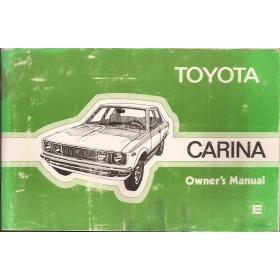 Toyota Carina Instructieboekje   Benzine Fabrikant 77 met gebruikssporen   Engels