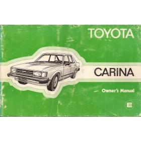 Toyota Carina Instructieboekje   Benzine Fabrikant 81 met gebruikssporen   Engels