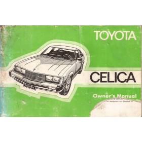 Toyota Celica Instructieboekje   Benzine Fabrikant 79 met gebruikssporen hoekje uit kaft  Engels