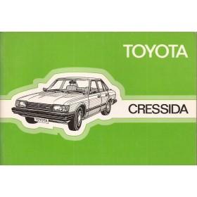 Toyota Cressida Instructieboekje   Benzine Fabrikant 80 ongebruikt   Nederlands
