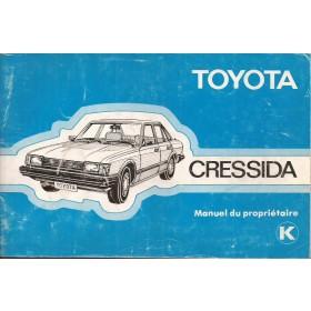 Toyota Cressida Instructieboekje   Benzine Fabrikant 81 met gebruikssporen   Frans