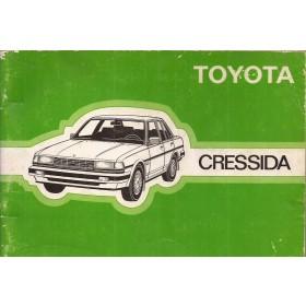 Toyota Cressida Instructieboekje   Benzine Fabrikant 85 met gebruikssporen   Nederlands