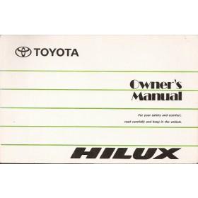 Toyota Hi-lux Instructieboekje   Benzine/Diesel Fabrikant 97 ongebruikt   Engels