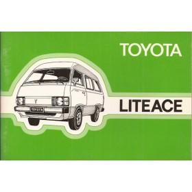 Toyota Lite-ace Instructieboekje   Benzine Fabrikant 82 ongebruikt   Nederlands