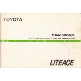 Toyota Lite-ace Instructieboekje   Benzine Fabrikant 85 met gebruikssporen   Nederlands