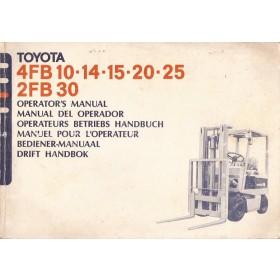 Toyota Heftruck Instructieboekje  4FB / 2FB Benzine Fabrikant ca. 80 met gebruikssporen   Nederlands