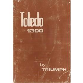 Triumph Toledo Instructieboekje  1300 Benzine Fabrikant 71 met gebruikssporen   Engels