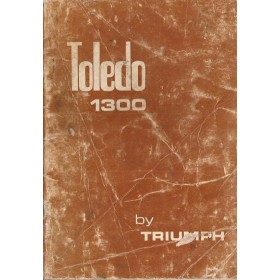 Triumph Toledo Instructieboekje  1300 Benzine Fabrikant 73 met gebruikssporen vouw in achterkaft  Engels