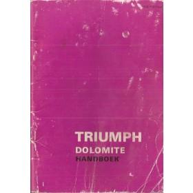 Triumph Dolomite Instructieboekje   Benzine Fabrikant 73 met gebruikssporen   Nederlands