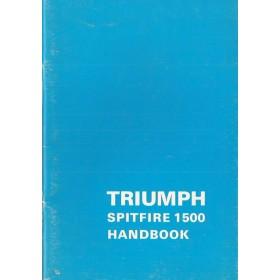 Triumph Spitfire Instructieboekje  1500 Benzine Fabrikant 75 met gebruikssporen   Engels